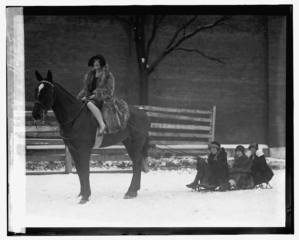 16 x 20 Reprinted Old Photo ofGirls from Keiths enjoy 1st real snow of season, 1/3/25 1925 National Photo Co  08a