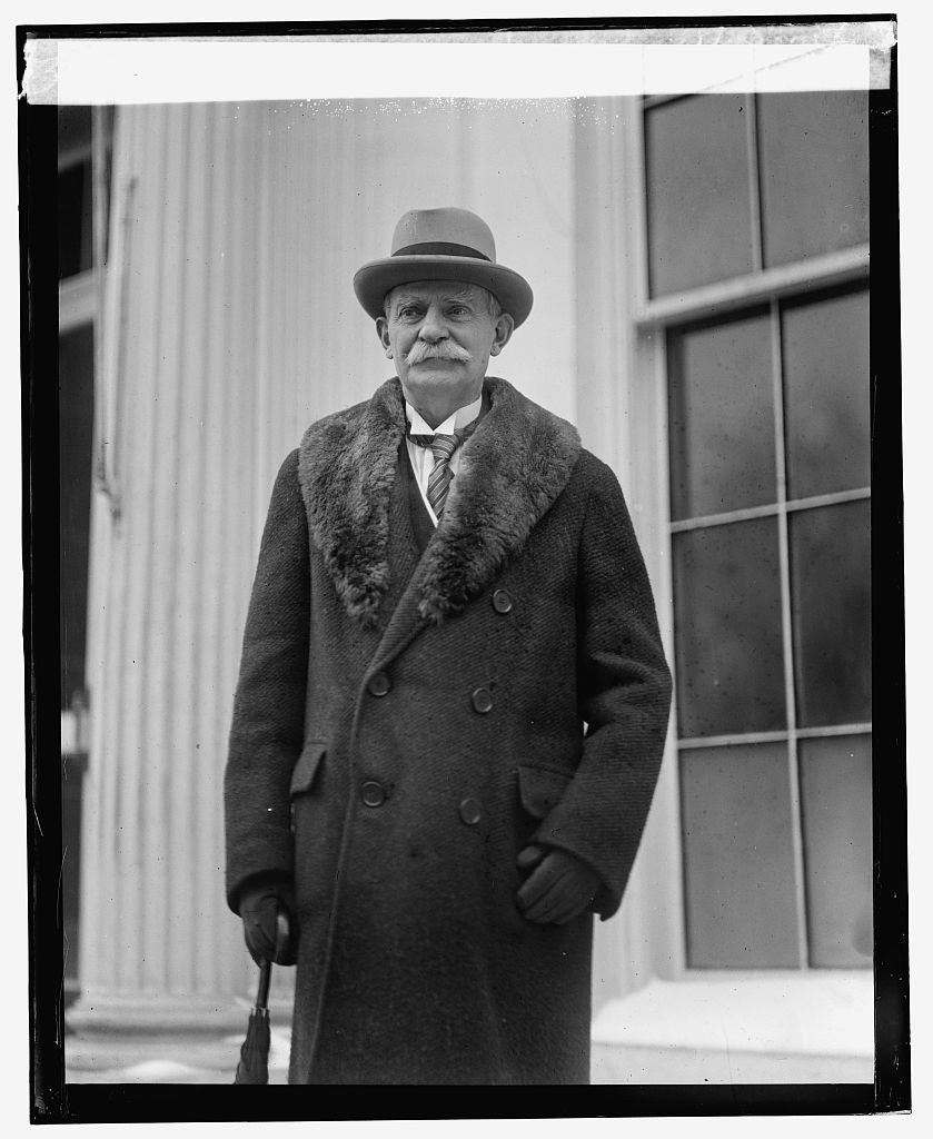 16 x 20 Reprinted Old Photo ofAmbassador J. W. Riddle at W.H., 1/29/25 1925 National Photo Co  38a