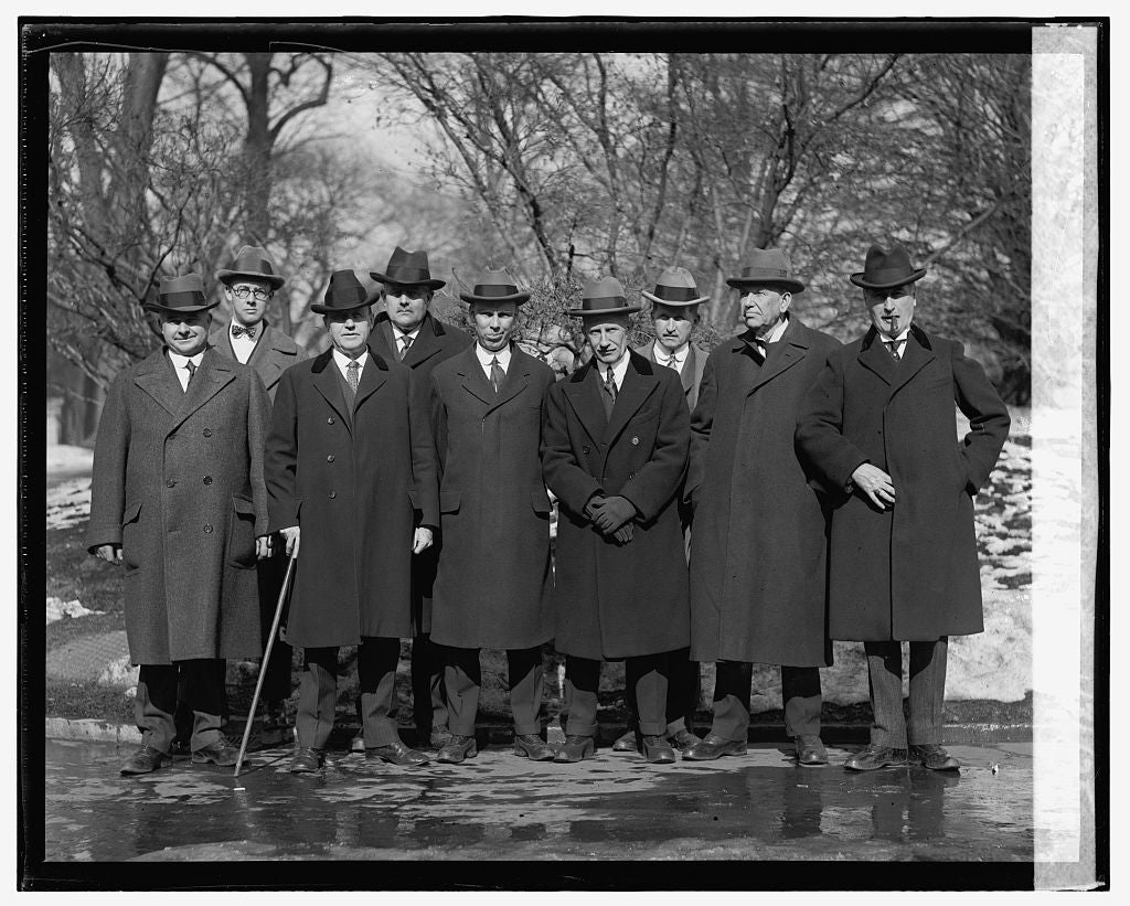 16 x 20 Reprinted Old Photo ofDelegation from Maine on potato embargo at W.H., 1/31/25 1925 National Photo Co  42a