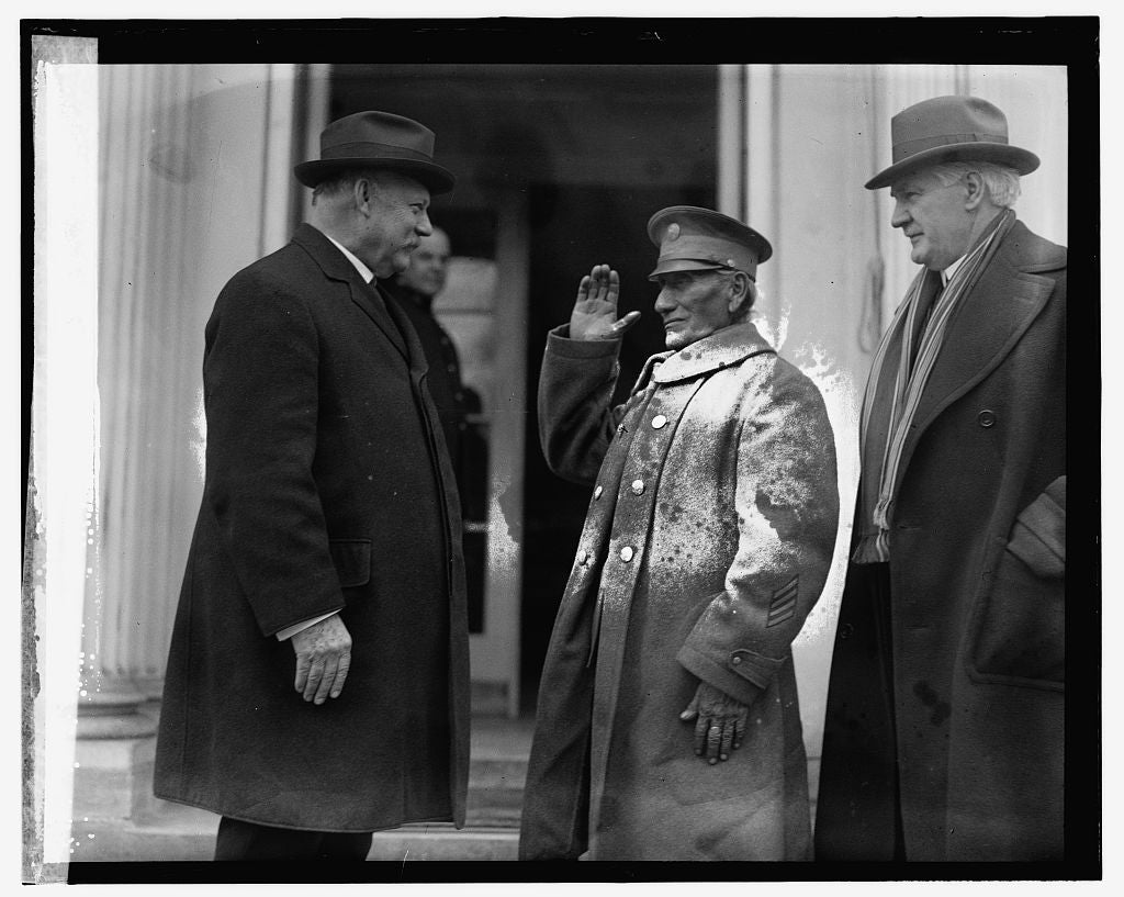 16 x 20 Reprinted Old Photo ofWeeks - J - See - O - Senator, Harreld of Okl., 1/17/25 1925 National Photo Co  55a