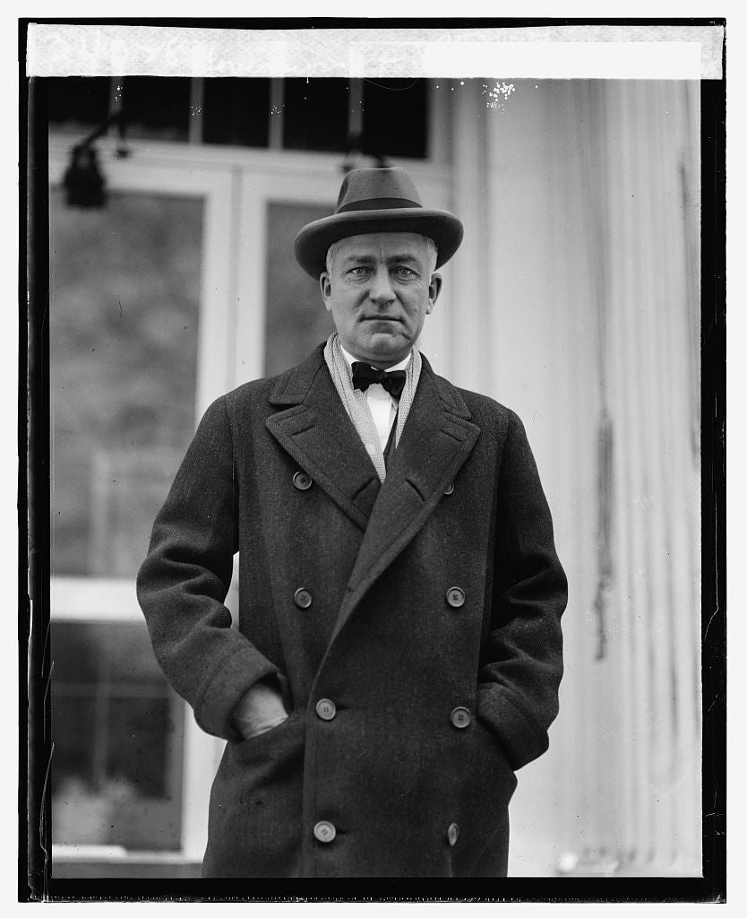 16 x 20 Reprinted Old Photo ofGovernor R.D. Carey of Wyoming at W.H., 1/29/25 1925 National Photo Co  85a