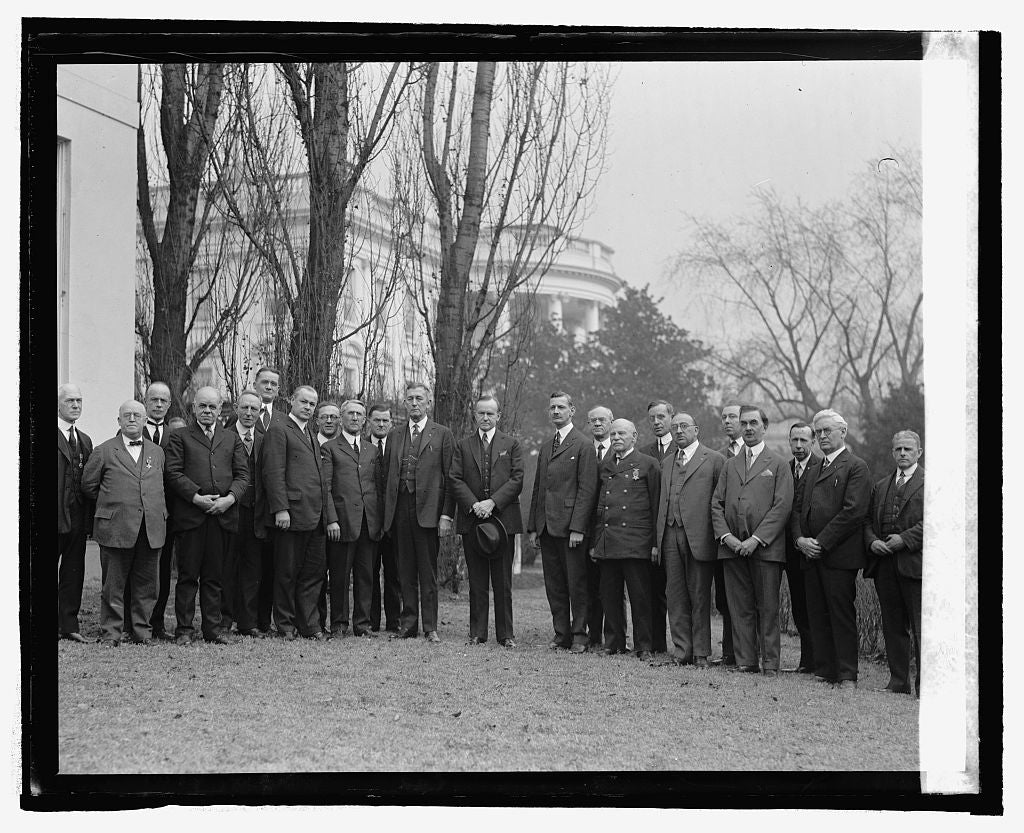 16 x 20 Reprinted Old Photo ofSons of veterans at W.H., 2/16/25 1925 National Photo Co  97a