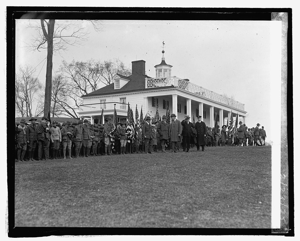 16 x 20 Reprinted Old Photo ofBoy Scouts at Mt. Vernon, 2/23/25 1925 National Photo Co  11a