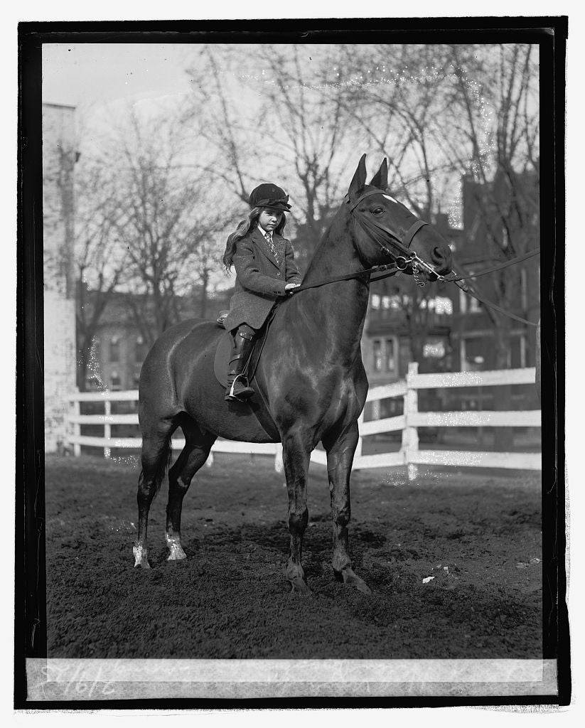 16 x 20 Reprinted Old Photo ofHelen Buchanan, young Wash. horsewoman, 2/9/25 1925 National Photo Co  22a