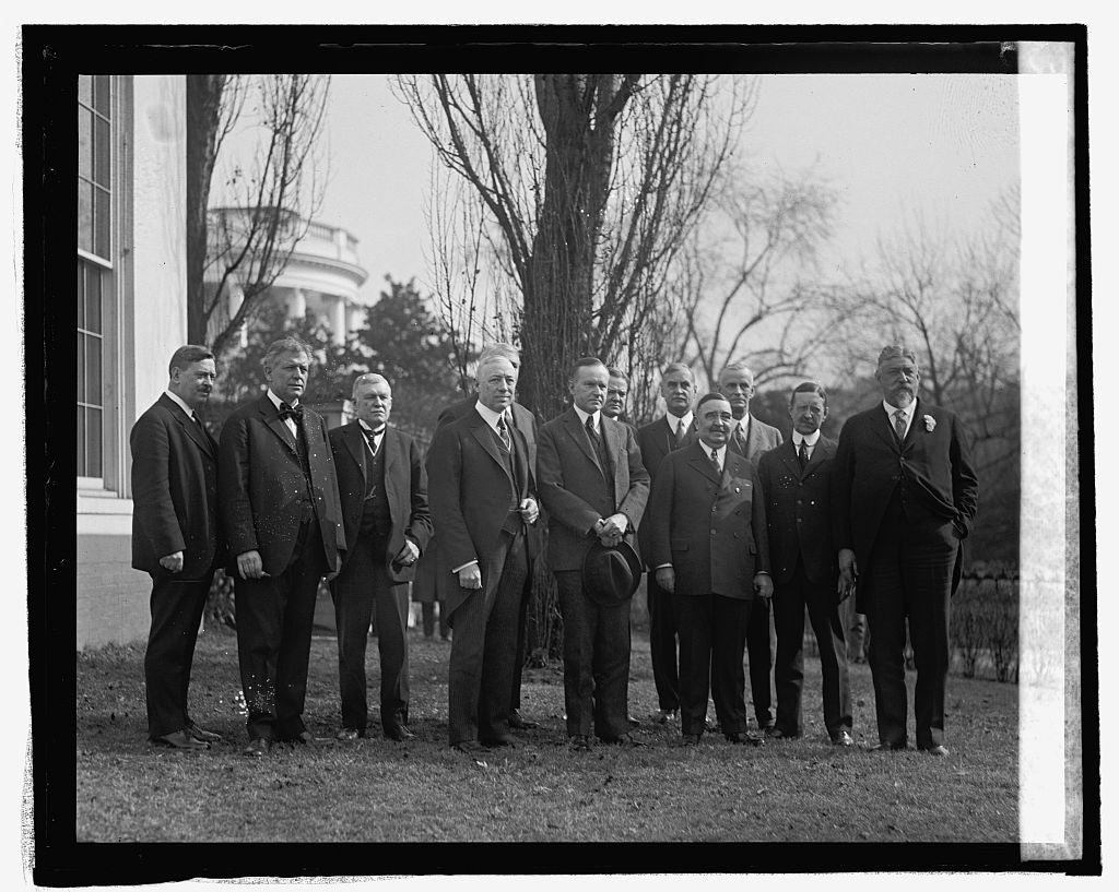 16 x 20 Reprinted Old Photo ofCommittee from Philidelphia invite Coolidge to attend Sesquicentennial, 2/14/25 1925 National Photo Co  24a