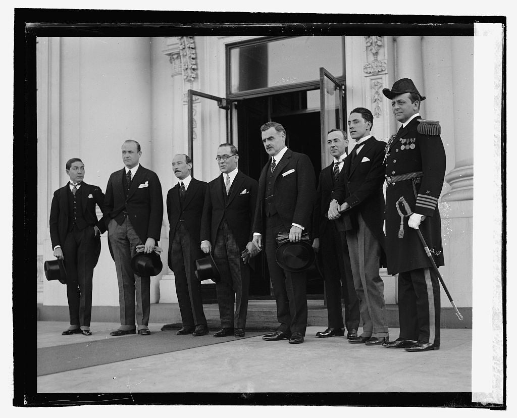 16 x 20 Reprinted Old Photo ofAmbassador Telly presenting credentials to President, 2/24/25 1925 National Photo Co  39a