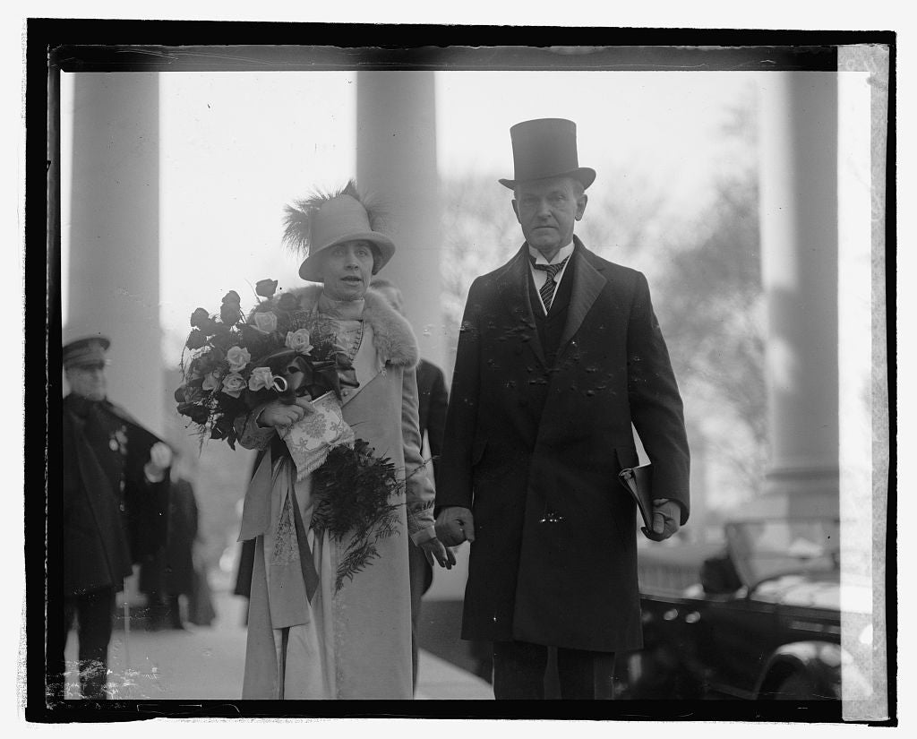 16 x 20 Reprinted Old Photo ofPres. & Mrs. Coolidge 1925 National Photo Co  51a