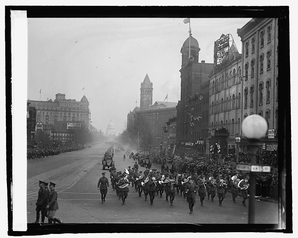 16 x 20 Reprinted Old Photo ofCoolidge inaugural parade 1925 National Photo Co  67a