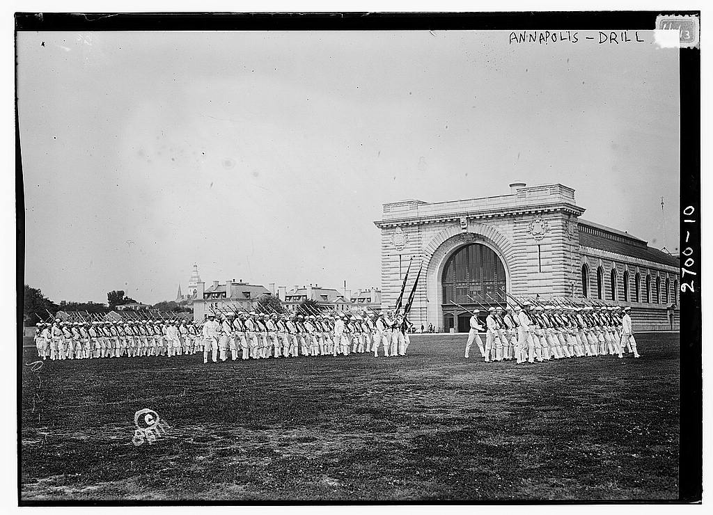 8 x 10 Photo of Annapolis Drill 1913 G. Bain Collection 44a