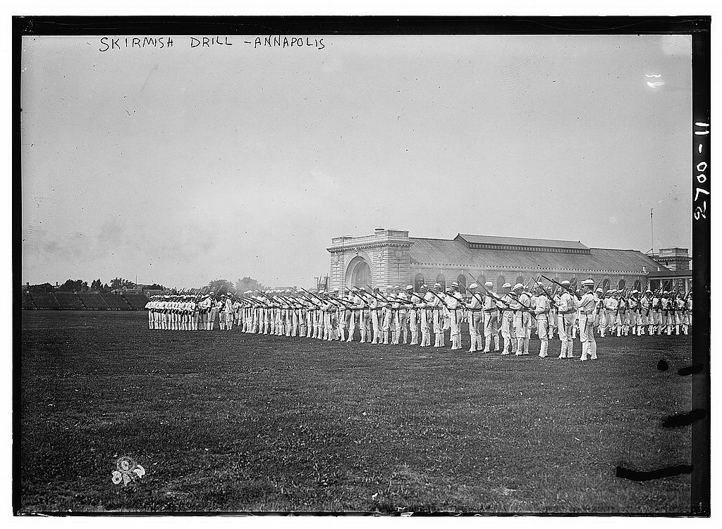 8 x 10 Photo of Annapolis Skirmish drill 1913 G. Bain Collection 45a