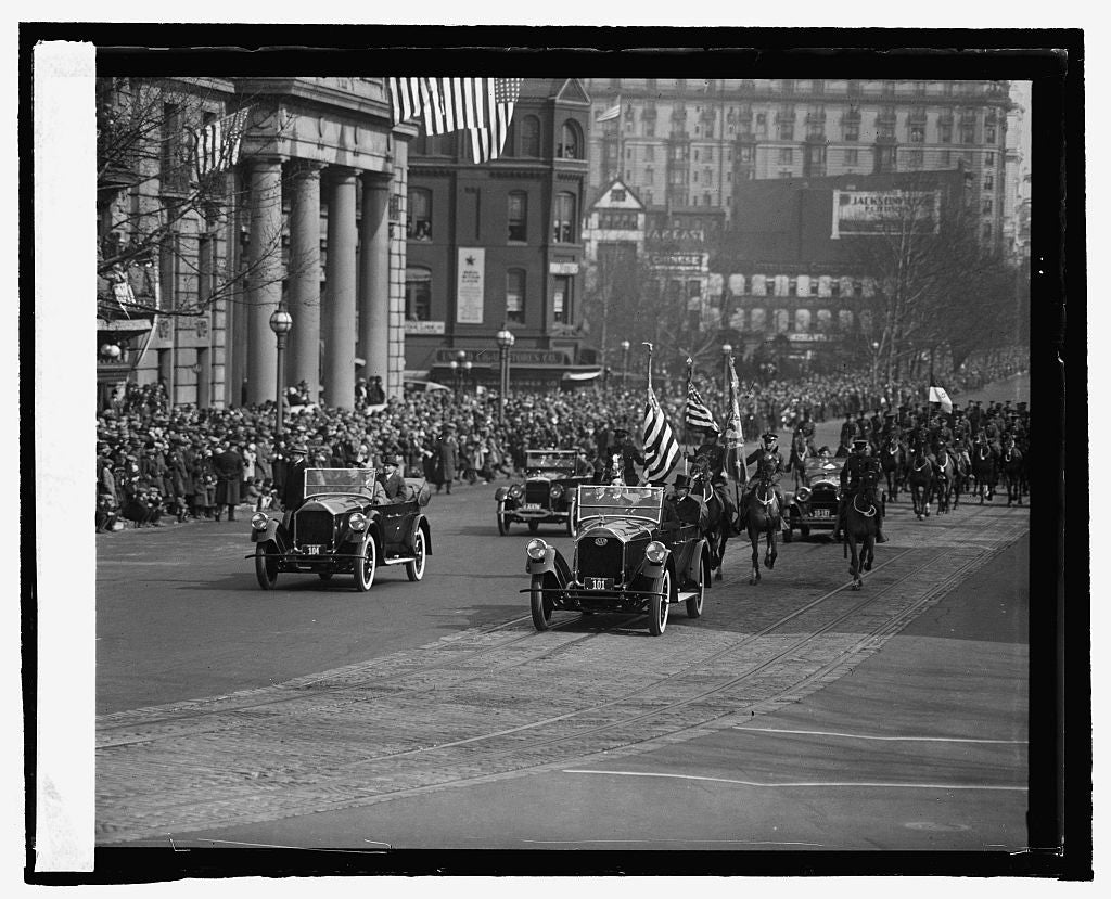 16 x 20 Reprinted Old Photo ofCoolidge inauguration 1925 National Photo Co  80a