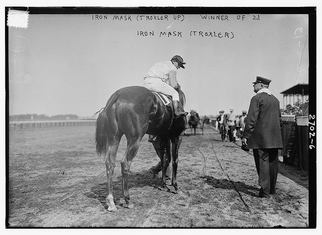 8 x 10 Photo of Iron Mask Troxler up , winner of 2d 1913 G. Bain Collection 47a