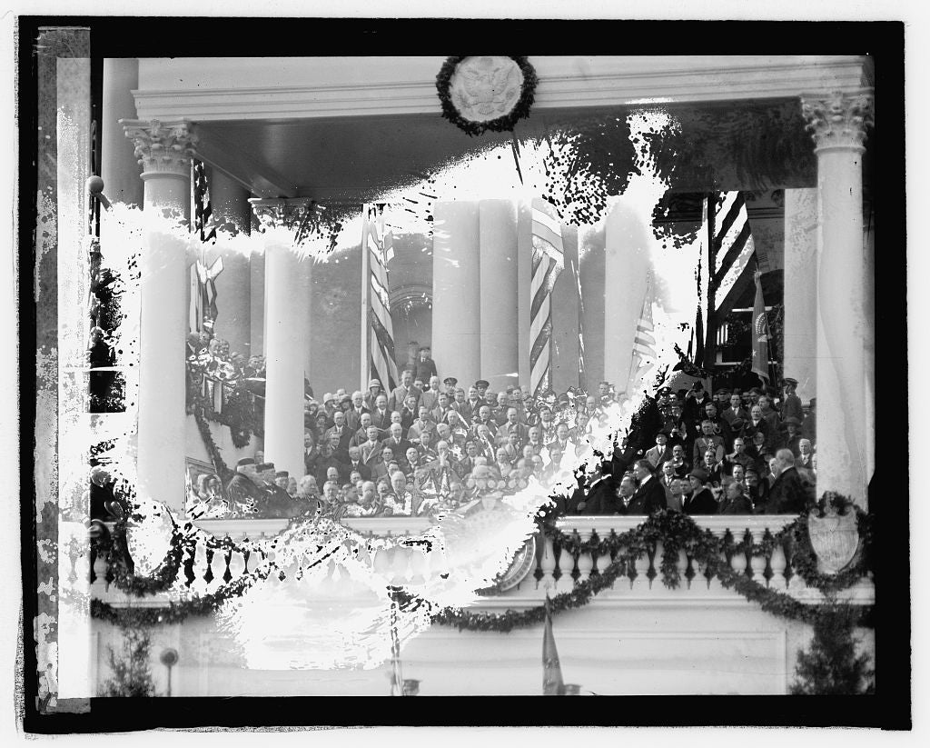 16 x 20 Reprinted Old Photo ofCoolidge inauguration 1925 National Photo Co  85a
