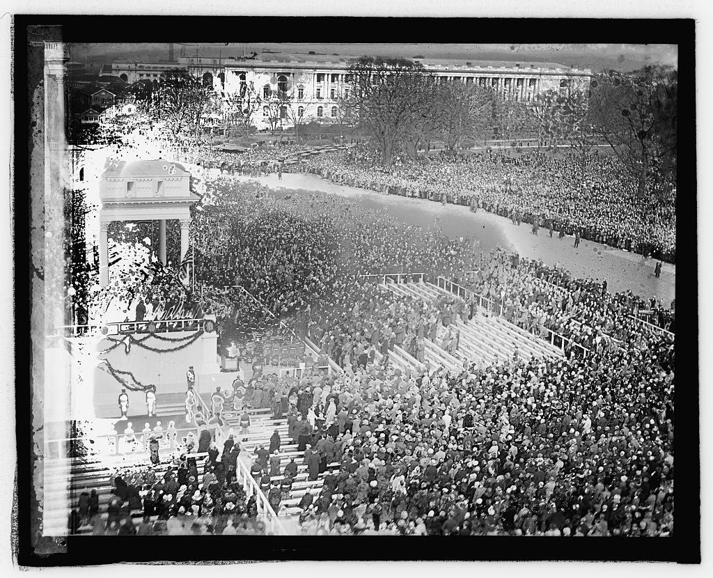 16 x 20 Reprinted Old Photo ofCoolidge inauguration 1925 National Photo Co  87a