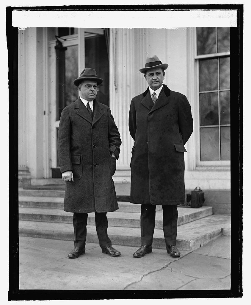 16 x 20 Reprinted Old Photo ofE.K. Bartley and Everett Sanders, 3/2/25 1925 National Photo Co  04a