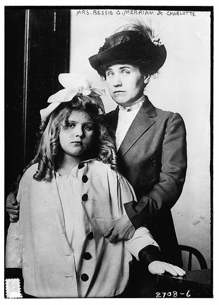 8 x 10 Photo of Mrs. Bessie C. Merriam & Charlotte 1913 G. Bain Collection 03a