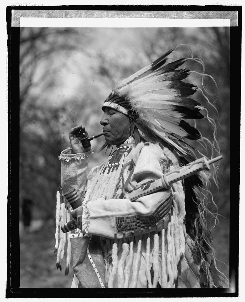 16 x 20 Reprinted Old Photo ofChief Whirlwind Soldier from Rosebud Reservation, S.D., 3/10/25 1925 National Photo Co  35a