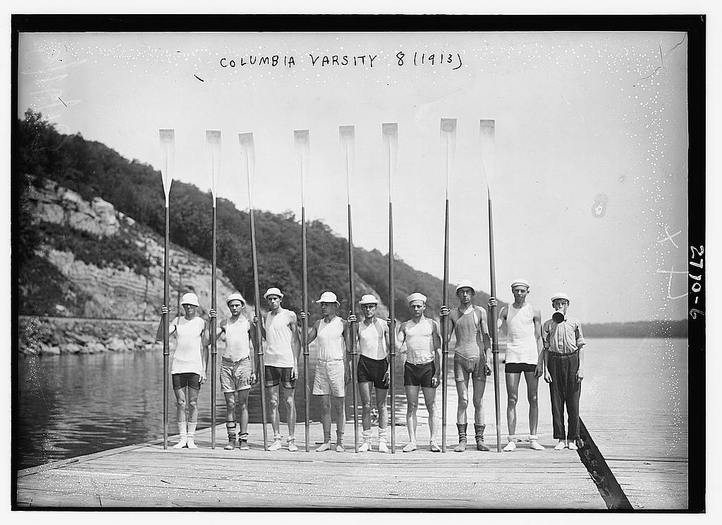 8 x 10 Photo of Columbia Varsity 8 1913  1913 G. Bain Collection 19a
