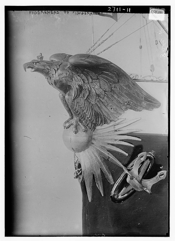 8 x 10 Photo of Figurehead of IMPERATOR 1913 G. Bain Collection 30a