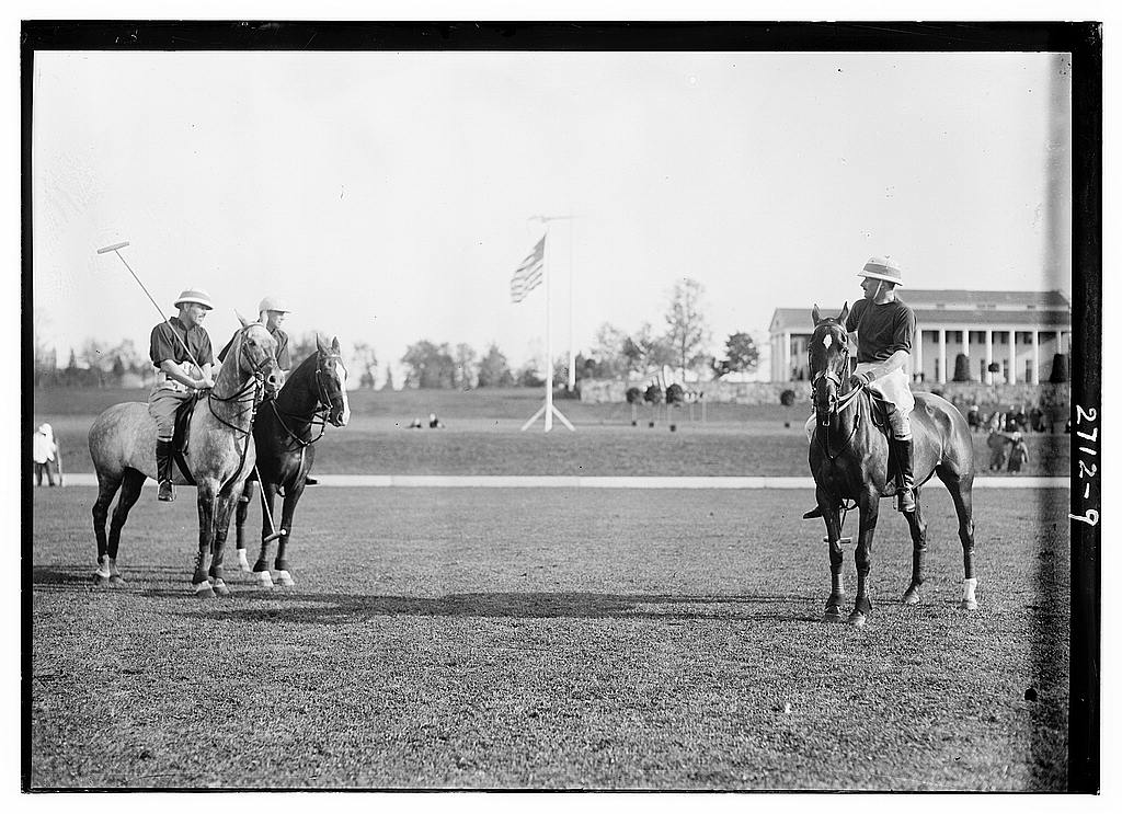 8 x 10 Photo of Polo match between American and English teams 1913 G. Bain Collection 39a