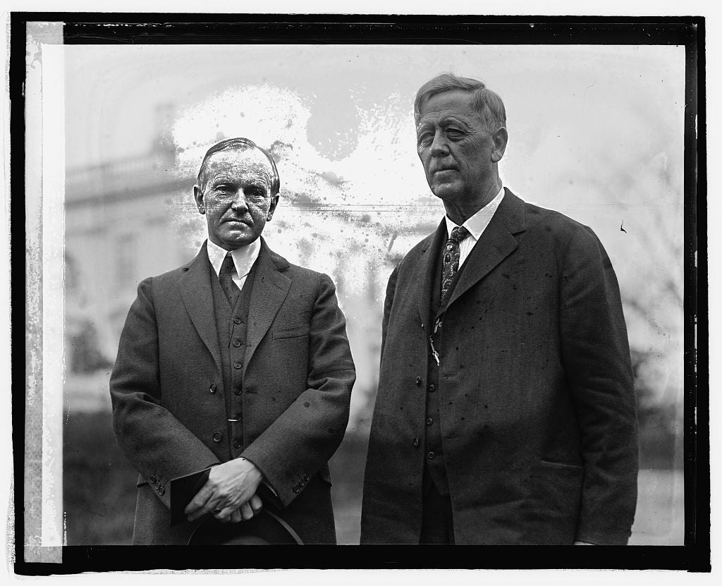 16 x 20 Reprinted Old Photo ofCoolidge and Attny. Gen. J.G. Sargent, 3/18/25 1925 National Photo Co  97a