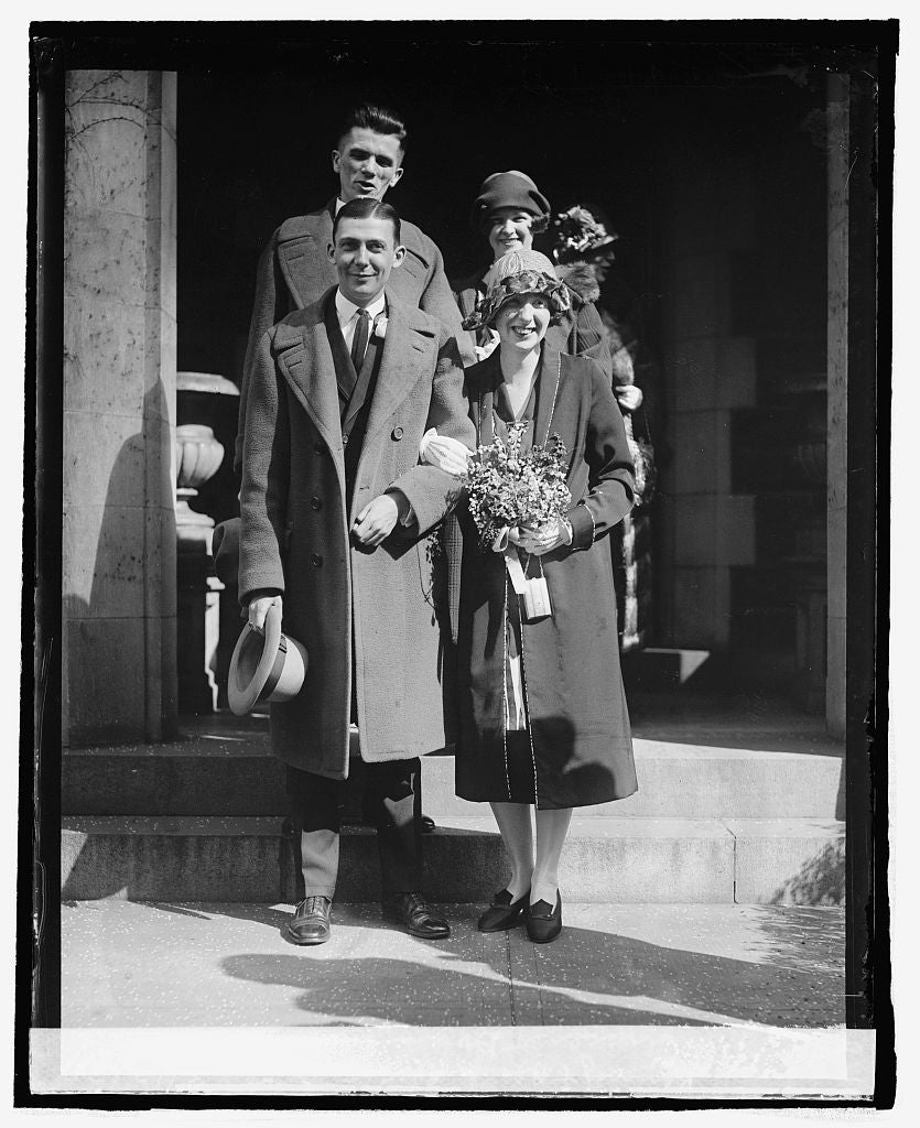 16 x 20 Reprinted Old Photo ofI. Geisser, Davis R. Salter, J.R. Kenny, & Rena Clifford, 3/12/25 1925 National Photo Co  05a