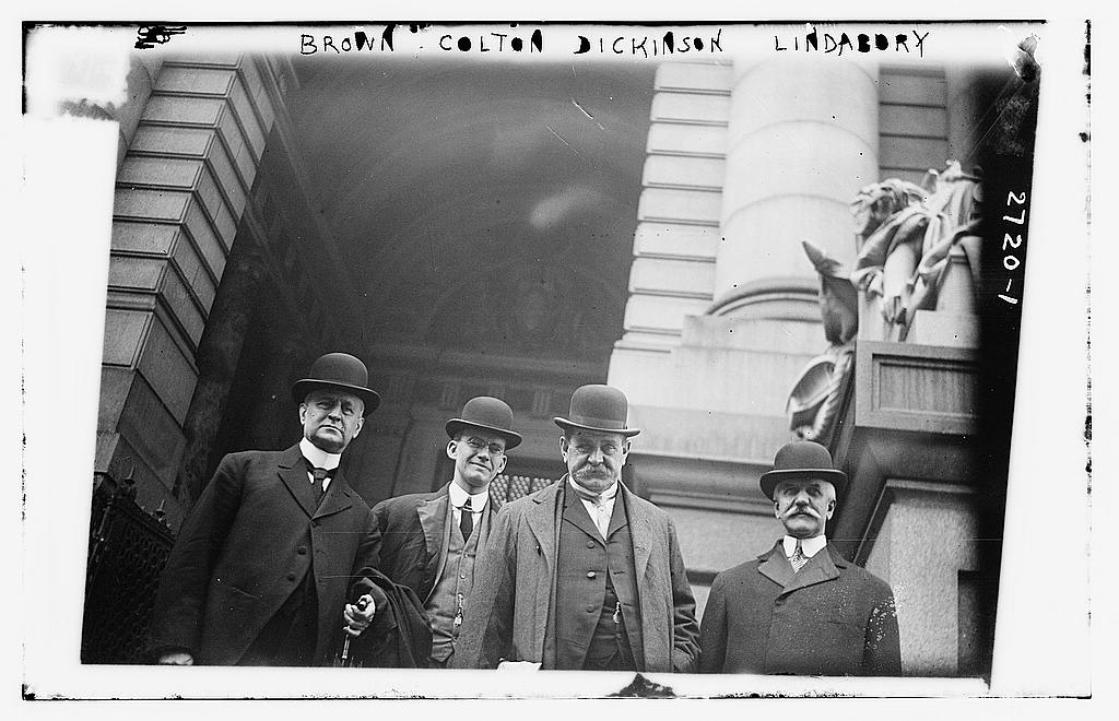 8 x 10 Photo of Brown, Colton, Dickinson, Lindabury 1912 G. Bain Collection 40a