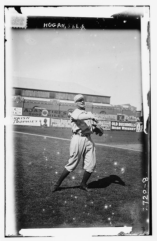 8 x 10 Photo of Willie Hogan, St. Louis AL, at Hilltop Park, NY baseball  1912 G. Bain Collection 42a