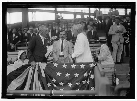 8 x 10 Reprinted Old Photo of Wilson, Woodrow. At Baseball Game 1910-20 Harris & Ewing 48a