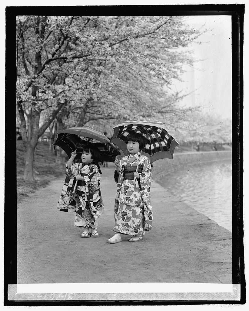 16 x 20 Reprinted Old Photo ofSumi and Sada Tamura, 3/26/25 1925 National Photo Co  50a