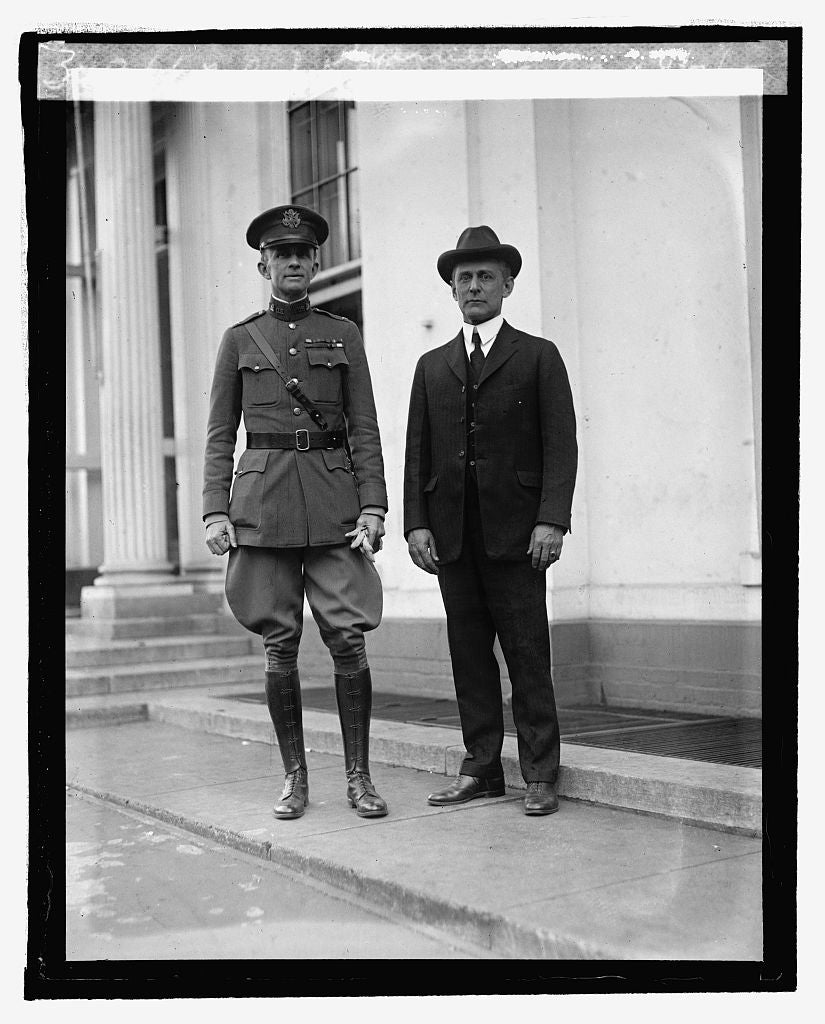 16 x 20 Reprinted Old Photo ofCol. S.A. Cheney & Col. C.J. Sherrill, 4/7/25 1925 National Photo Co  82a