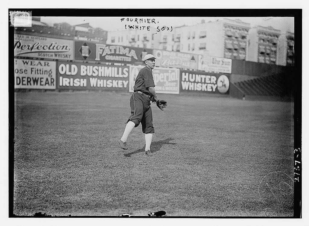 8 x 10 Photo of Jack Fournier, Chicago AL, at Hilltop Park, NY baseball  1912 G. Bain Collection 68a