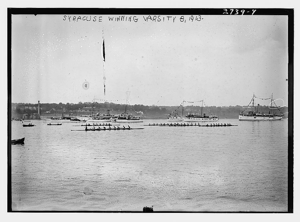 8 x 10 Photo of Syracuse winning Varsity 8, 1913 1913 G. Bain Collection 94a