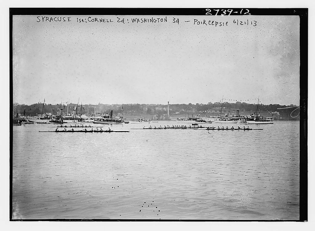 8 x 10 Photo of Syracuse 1st; Cornell 2nd; Wash. 3d Po'keepsie races 1913 G. Bain Collection 96a