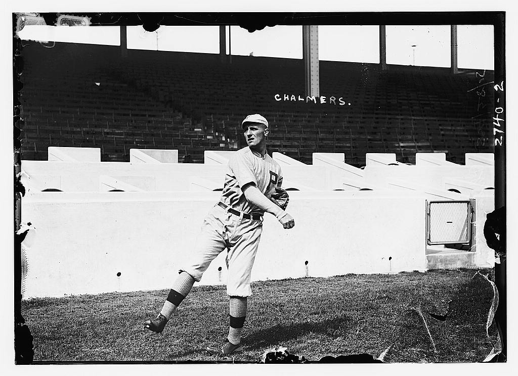 8 x 10 Photo of George Chalmers, Philadelphia NL, at Polo Grounds, NY baseball  1912 G. Bain Collection 75a