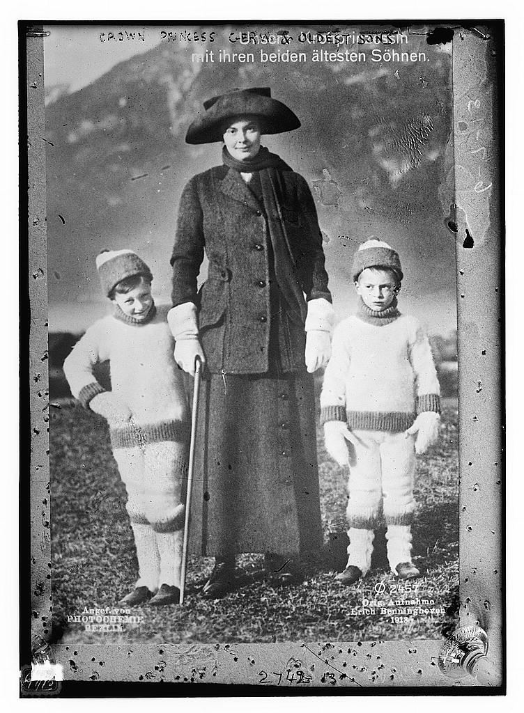 8 x 10 Photo of Crown Princess of Germany and oldest sons 1913 G. Bain Collection 30a