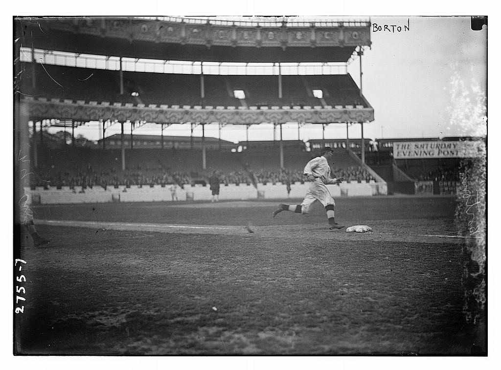 8 x 10 Photo of Babe Borton, New YOrk AL, in Polo Grounds baseball  1913 G. Bain Collection 60a