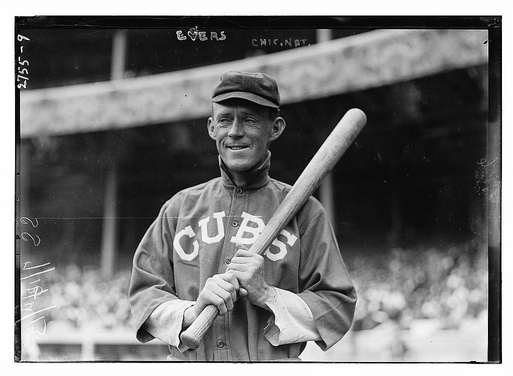8 x 10 Photo of Johnny Evers, Chicago NL, at Polo Grounds, NY baseball  1913 G. Bain Collection 62a