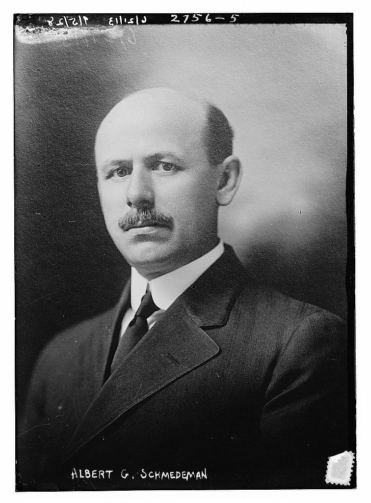 8 x 10 Photo of Albert G. Schmedeman 1913 G. Bain Collection 70a