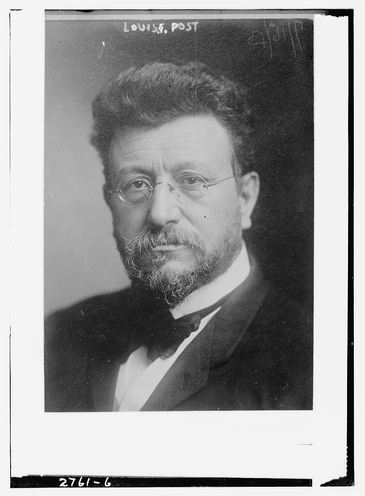 8 x 10 Photo of Louis F. Post 1913 G. Bain Collection 21a