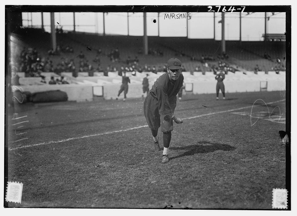 8 x 10 Photo of Armando Marsans, Cincinnati NL, at Polo Grounds, NY baseball  1913 G. Bain Collection 88a
