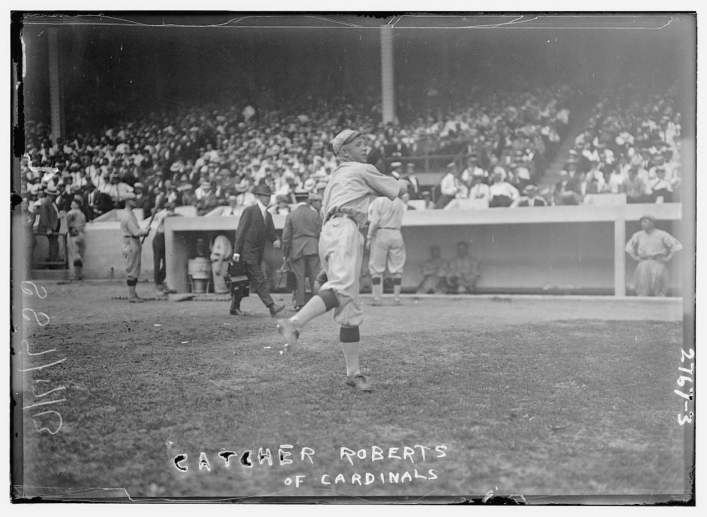 "8 x 10 Photo of Clarence ""Skipper"" Roberts, St. Louis NL baseball  1913 G. Bain Collection 99a"