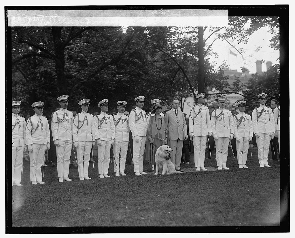 16 x 20 Gallery Wrapped Frame Art Canvas Print of Pres. & Mrs. Coolidge with aides 1925 National Photo Co  58a