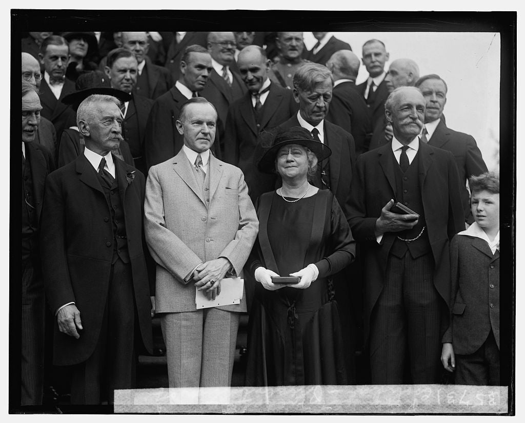 16 x 20 Gallery Wrapped Frame Art Canvas Print of Coolidge, presentation of Roosevelt Medals, 5/15/25 1925 National Photo Co  62a