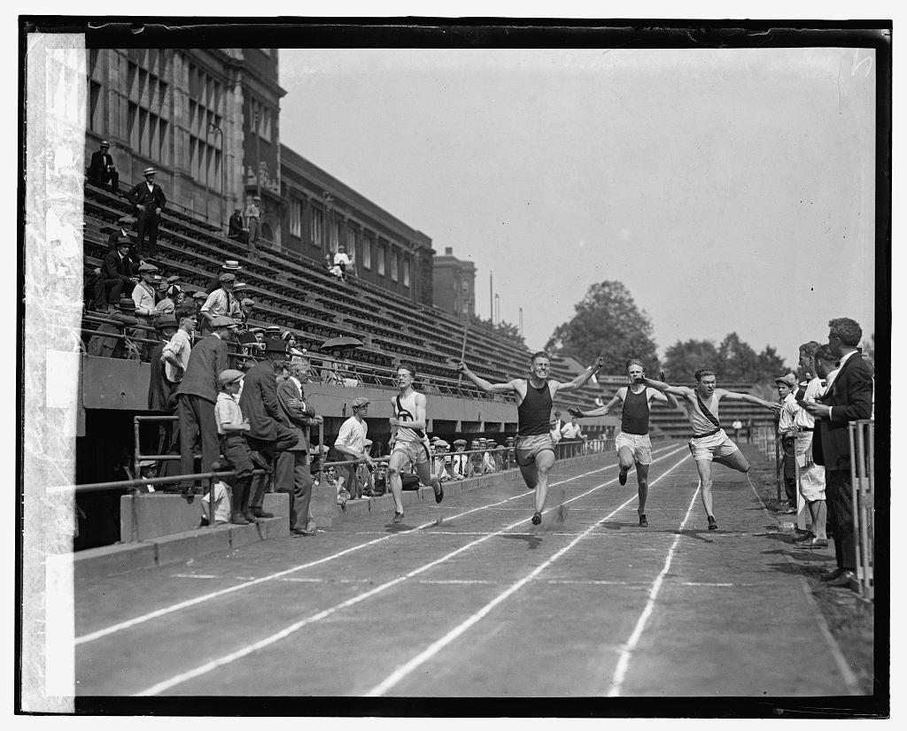 16 x 20 Gallery Wrapped Frame Art Canvas Print of High school track meet at Central Stadium 1925 National Photo Co  64a