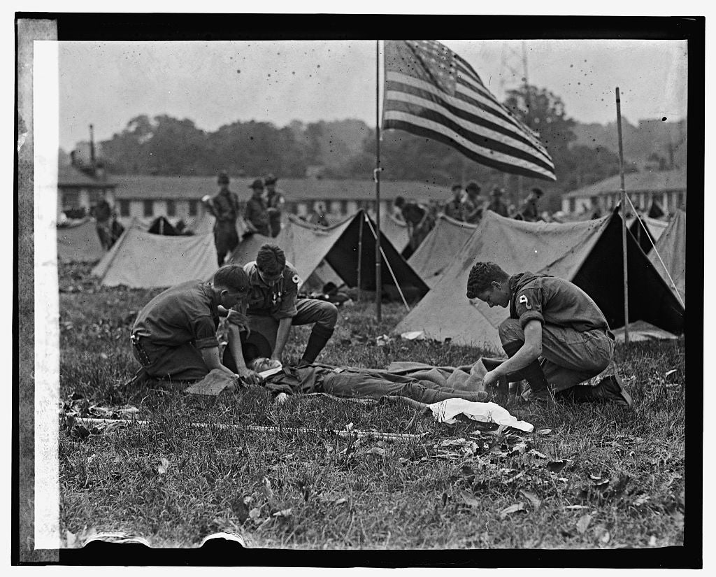 16 x 20 Gallery Wrapped Frame Art Canvas Print of Boy Scouts at Bowling Field, 6/3/25 1925 National Photo Co  74a