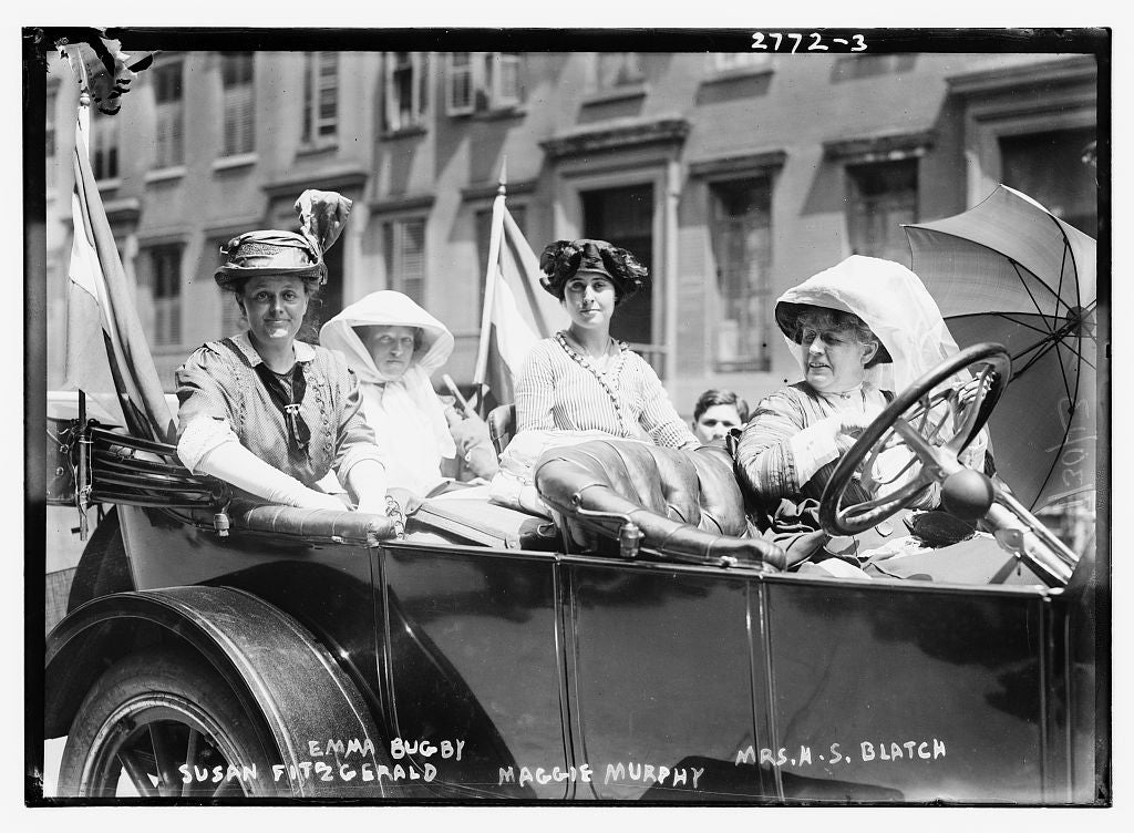 8 x 10 Photo of Susan Fitzgerald, Emma Bugby, Maggie Murphy, and Mrs. H.S. Blatch 1913 G. Bain Collection 24a