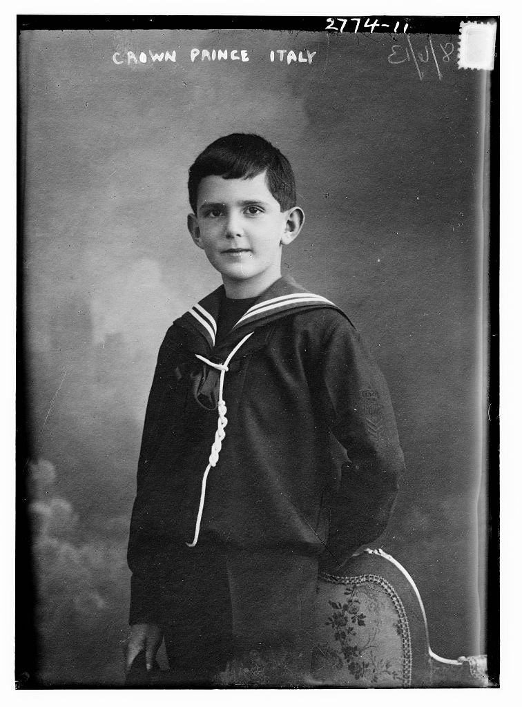 8 x 10 Photo of Crown Prince Italy 1913 G. Bain Collection 35a