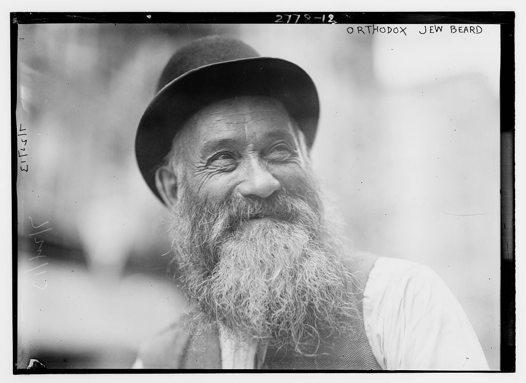 8 x 10 Photo of Orthodox Jew beard 1913 G. Bain Collection 46a