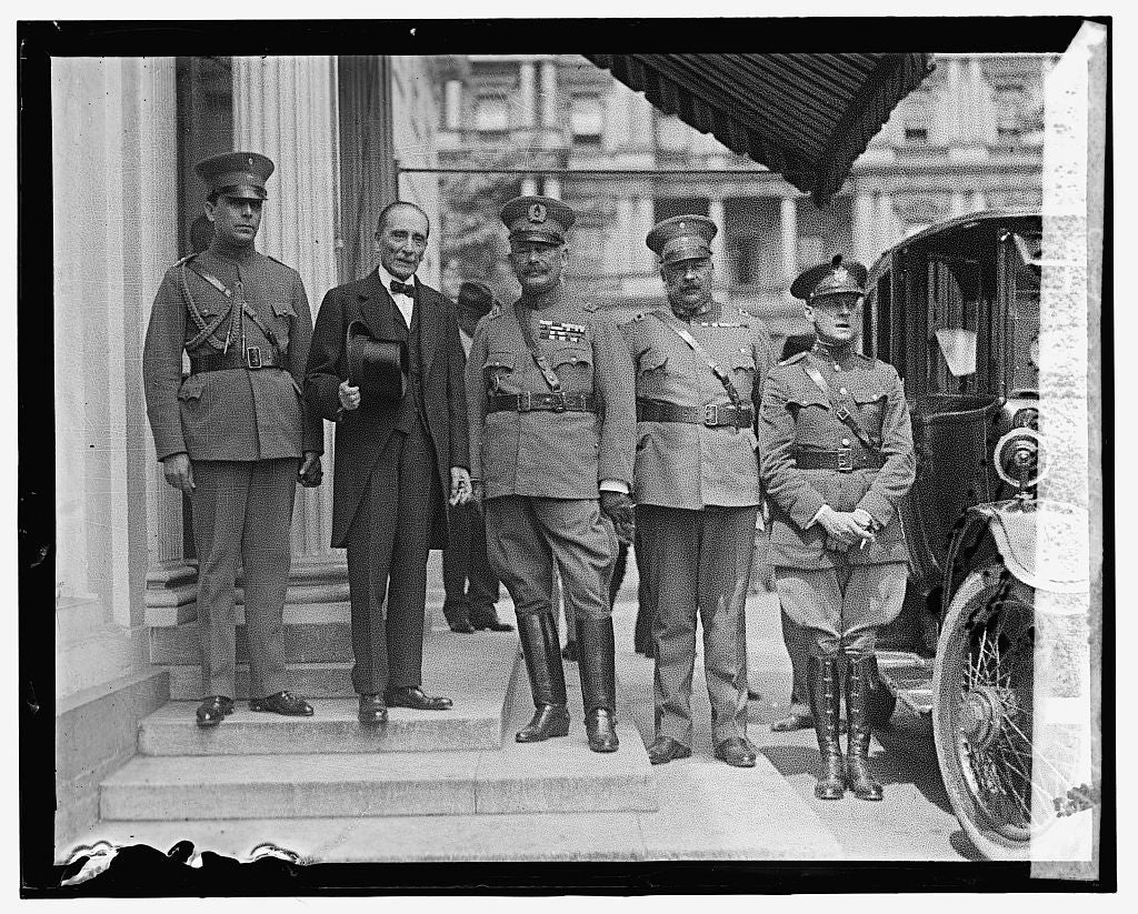 16 x 20 Gallery Wrapped Frame Art Canvas Print of Amb. Matthew & Gen. Pedro P. Dartnell at W.H., 6/4/25 1925 National Photo Co  00a